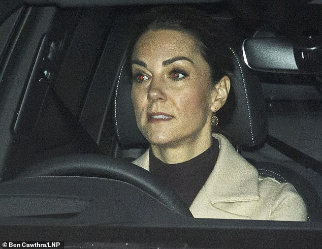 Duchess of Cambridge is seen outside Kensington Palace ahead of Prince William's Megxit showdown